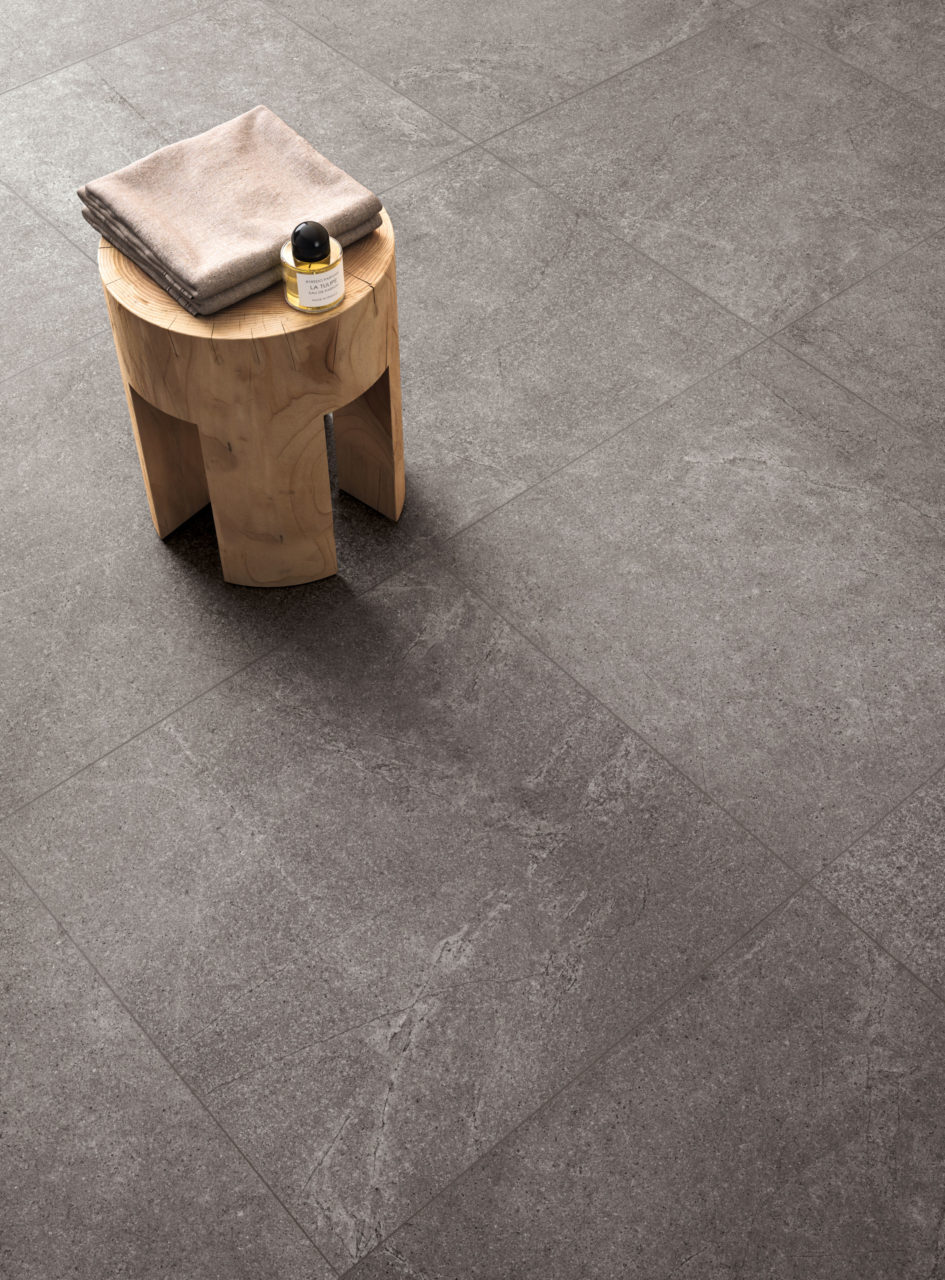 Sherbourne Dark Grey Porcelain Tile In Situ