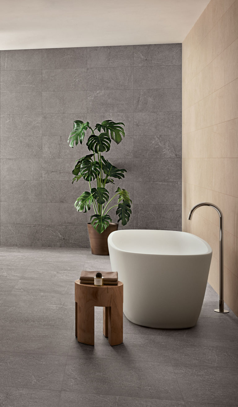 Sherbourne Dark Grey & Sherbourne White Porcelain Floor Tiles