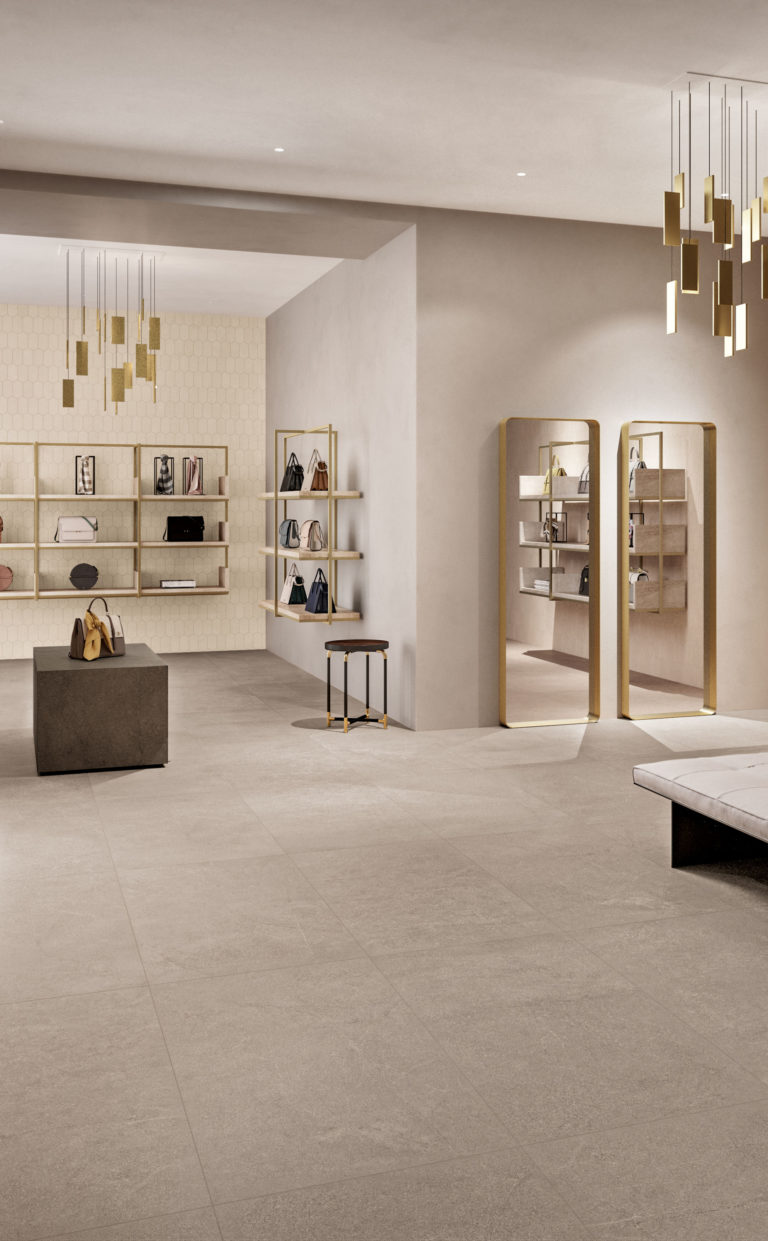 Sherbourne Light Grey Porcelain Tiles Mandarin Stone