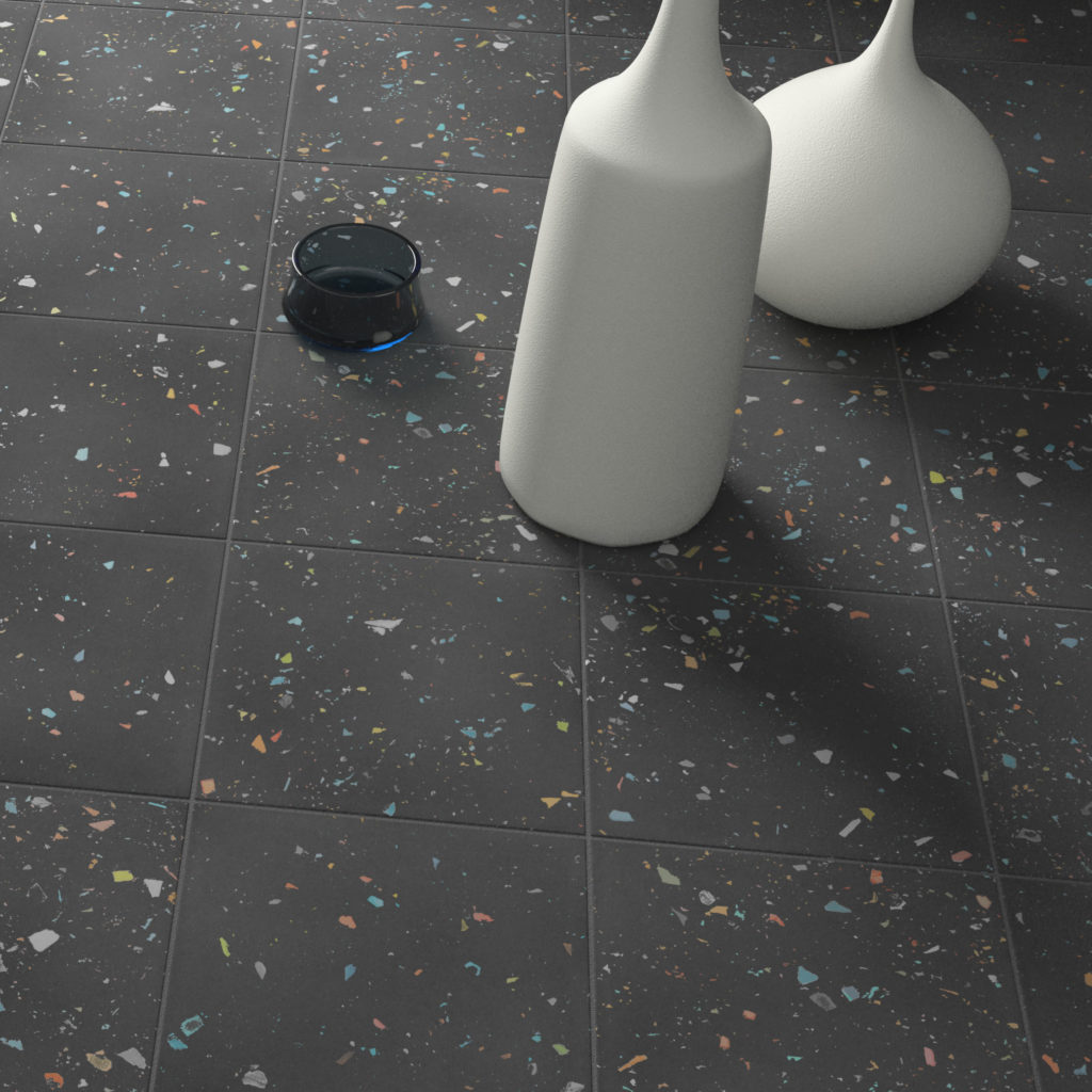 Spektrum Black Porcelain Interior Tile