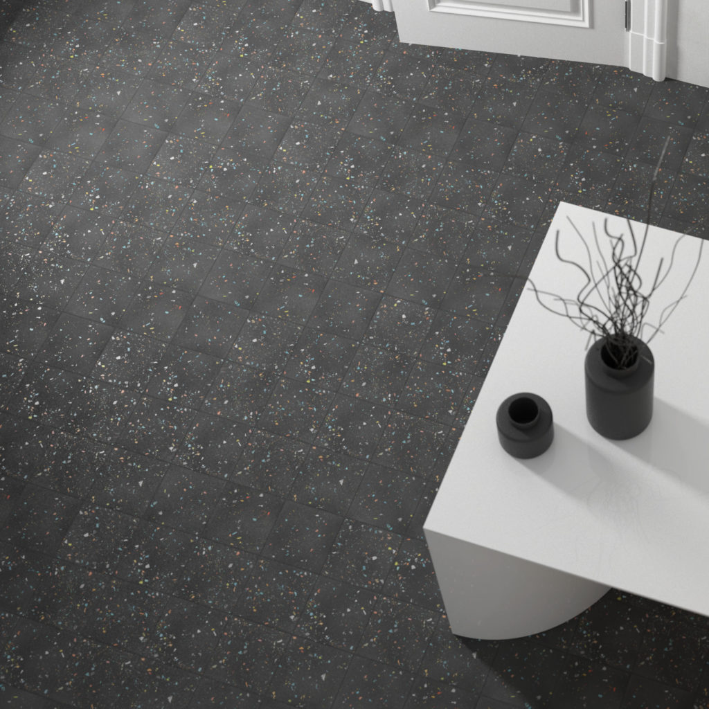 Spektrum Black Porcelain Floor Tile