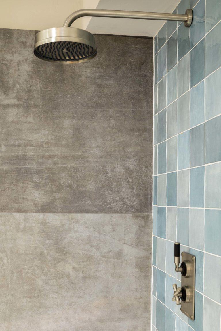 Zellige Nouveau Aqua Gloss Tile Mandarin Stone