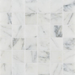 Calacatta Vein Honed Marble Mosaic Tile Swatch