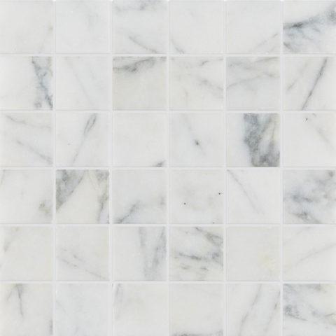 Calacatta Vein Honed Marble Mosaic