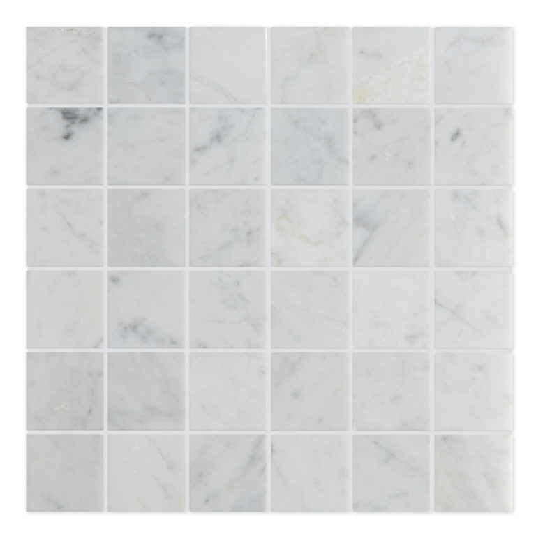 Carrara Honed Mosaic Marble Tile