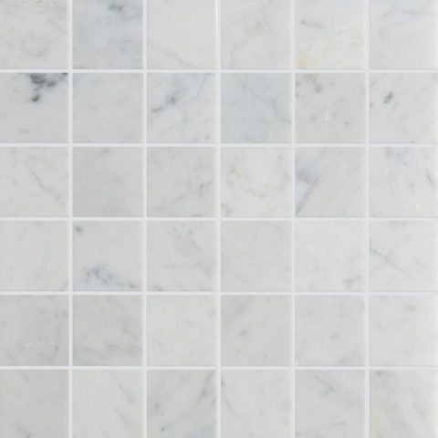 Carrara Honed Marble Mosaic