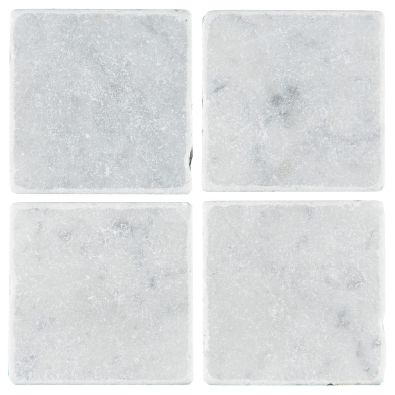 Carrara Tumbled Marble Tile Swatch