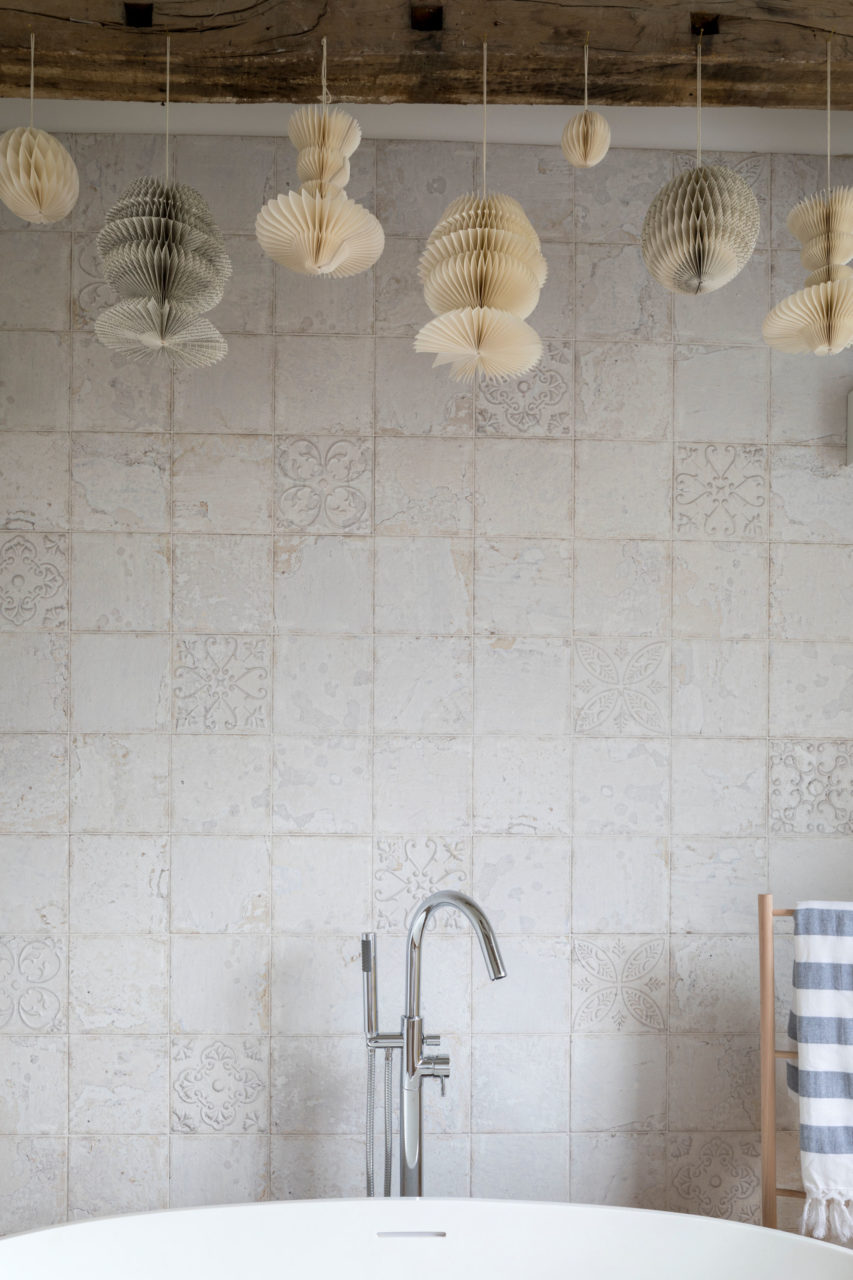Demelza Tin Decorative Porcelain Tile