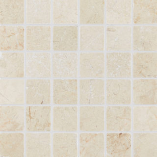 Ecru Tumbled Mosaic Tile Swatch