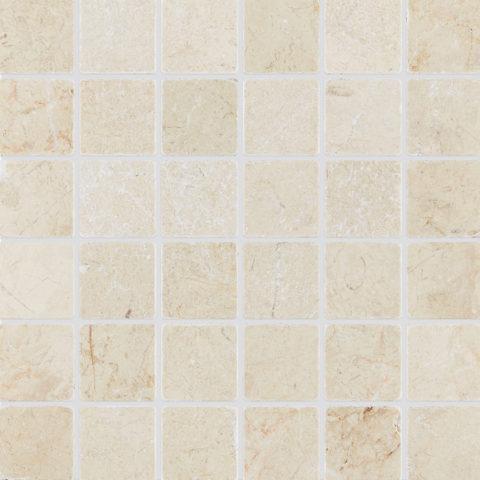 Ecru Tumbled Marble Mosaic