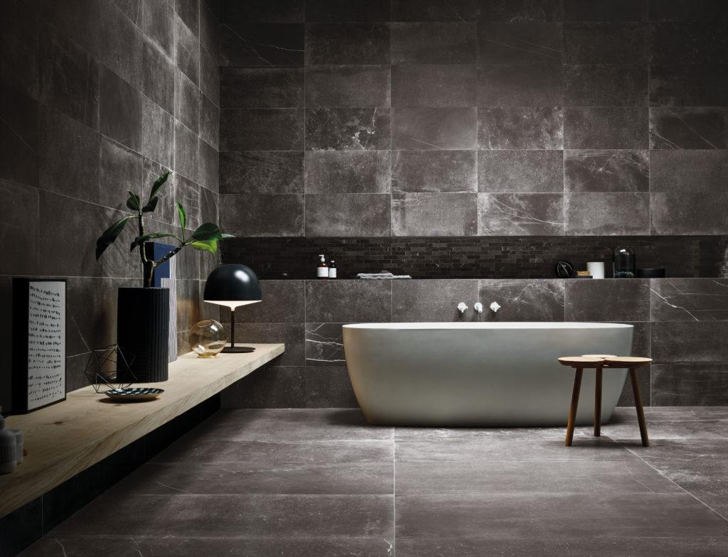 Fusion Black Matt Porcelain Tile