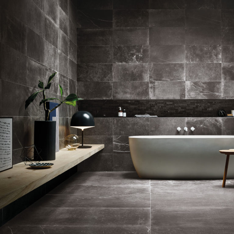 Fusion Black Matt Porcelain Tile Swatch