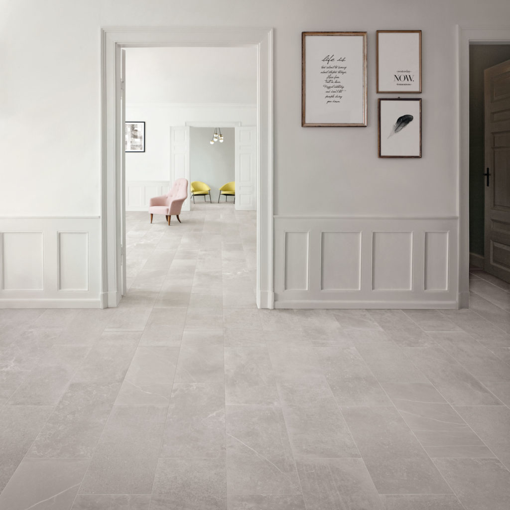 Fusion Light Grey Matt Porcelain Tile