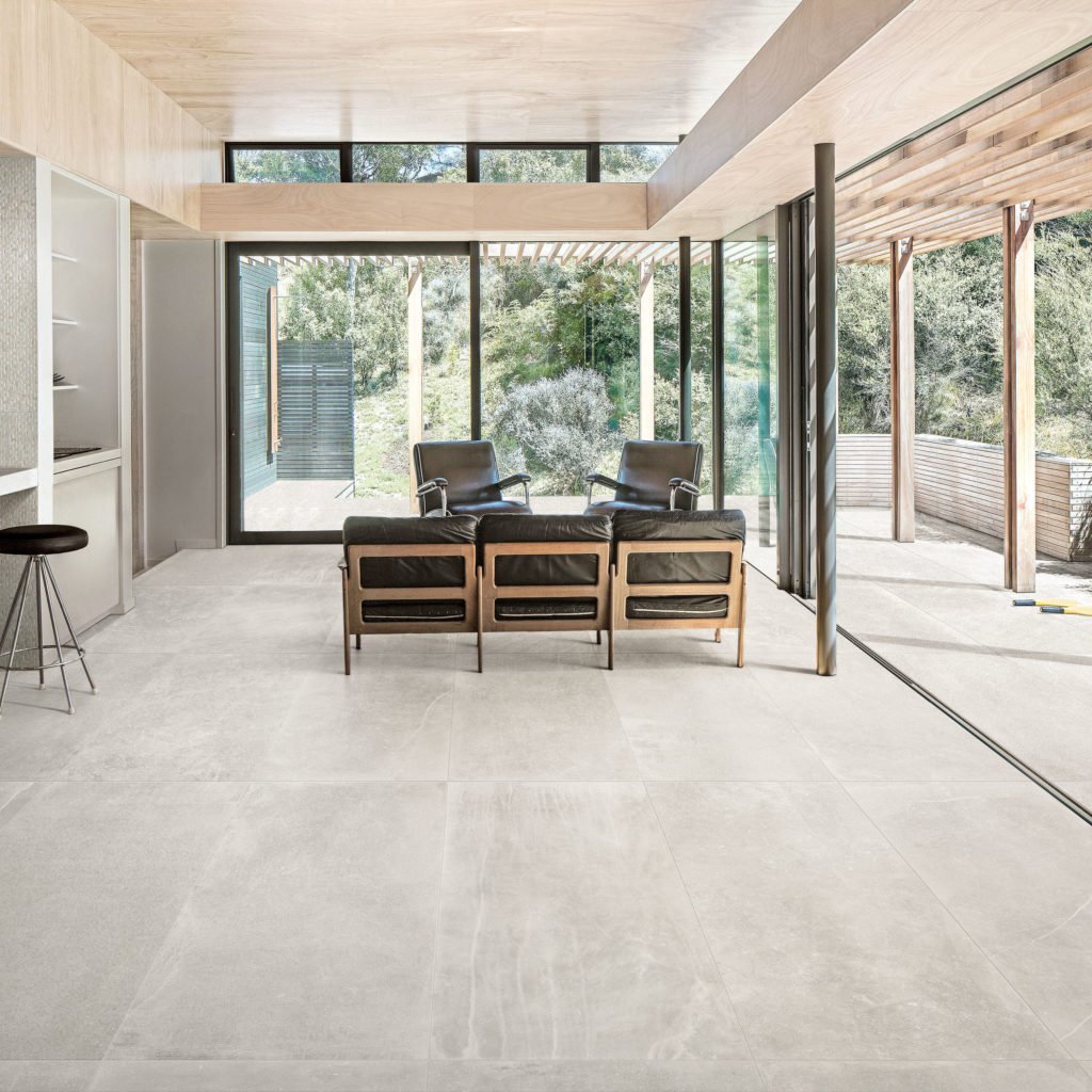 Fusion White Matt Porcelain Tile in Peka Peka