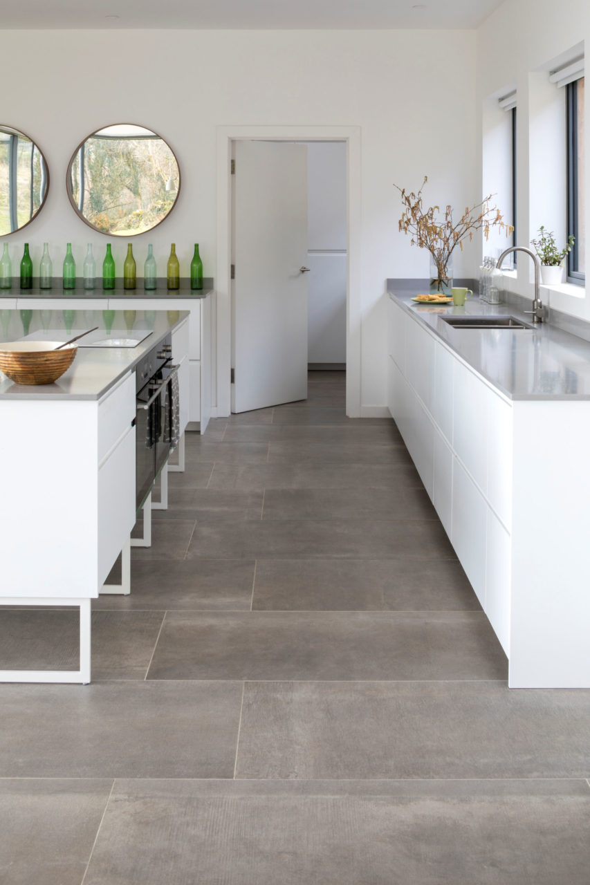 Hessian Grigio Porcelain Tile In Situ 1200x600x10mm