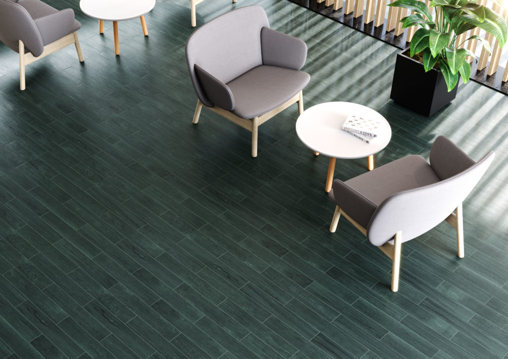 Metropole Green Wood Effect Porcelain Tile