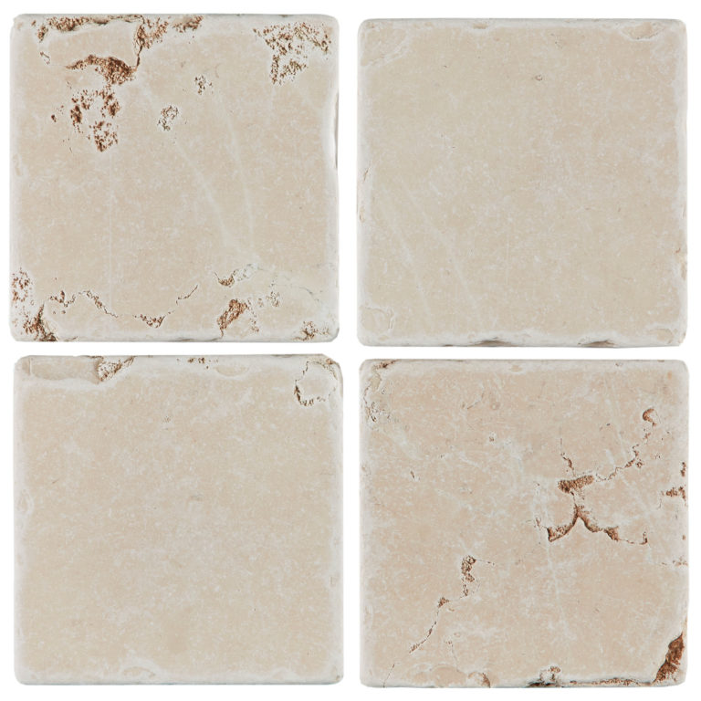 Rosa Perlino Tumbled Marble Tile Swatch