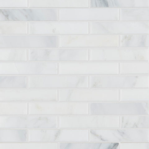 Alsace Honed Marble Brick Mosaic