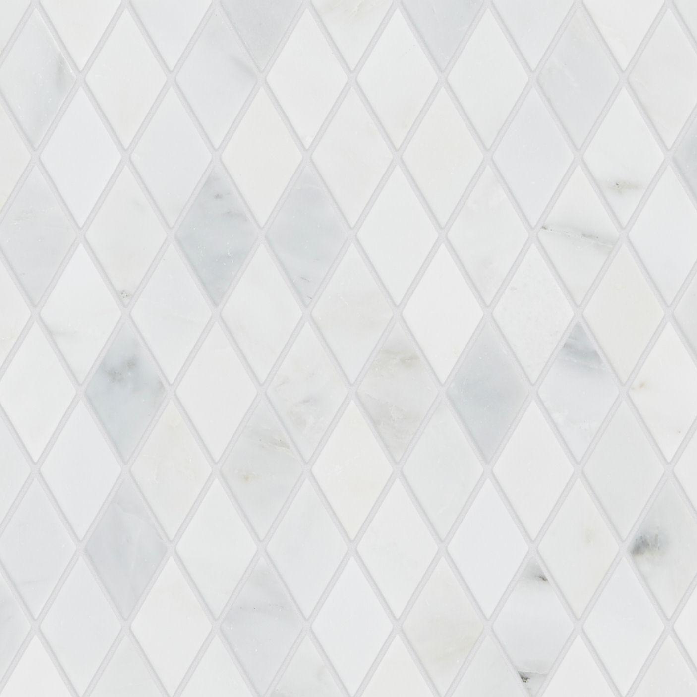 Alsace Honed Marble Diamond Mosaic Tile Mandarin Stone