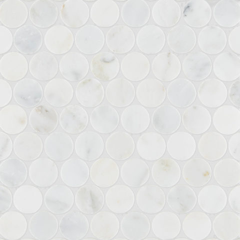 Alsace Honed Marble Penny Mosaic