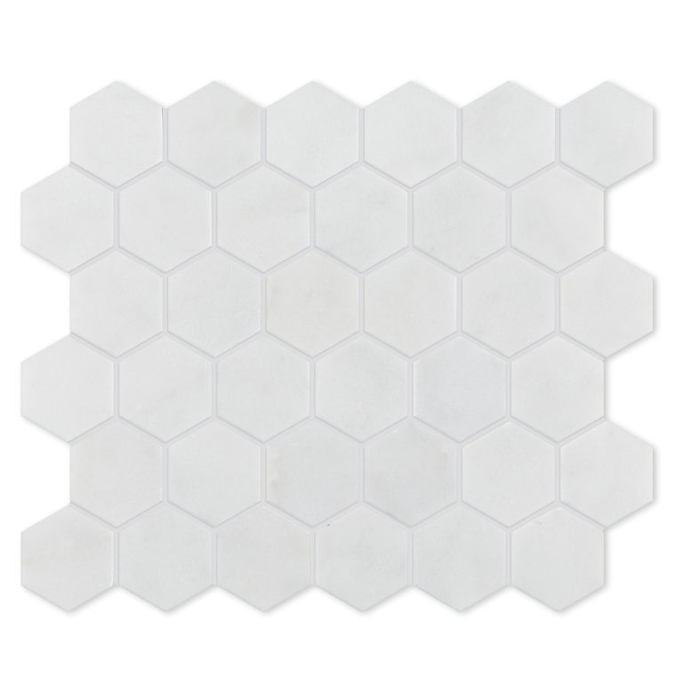 Calacatta Hexagon Marble Tile