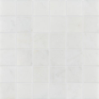 Calacatta Honed Mosaic Marble Tile 50mm Swatch