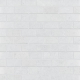 Calacatta Marble Polished Brick Tile Swatch