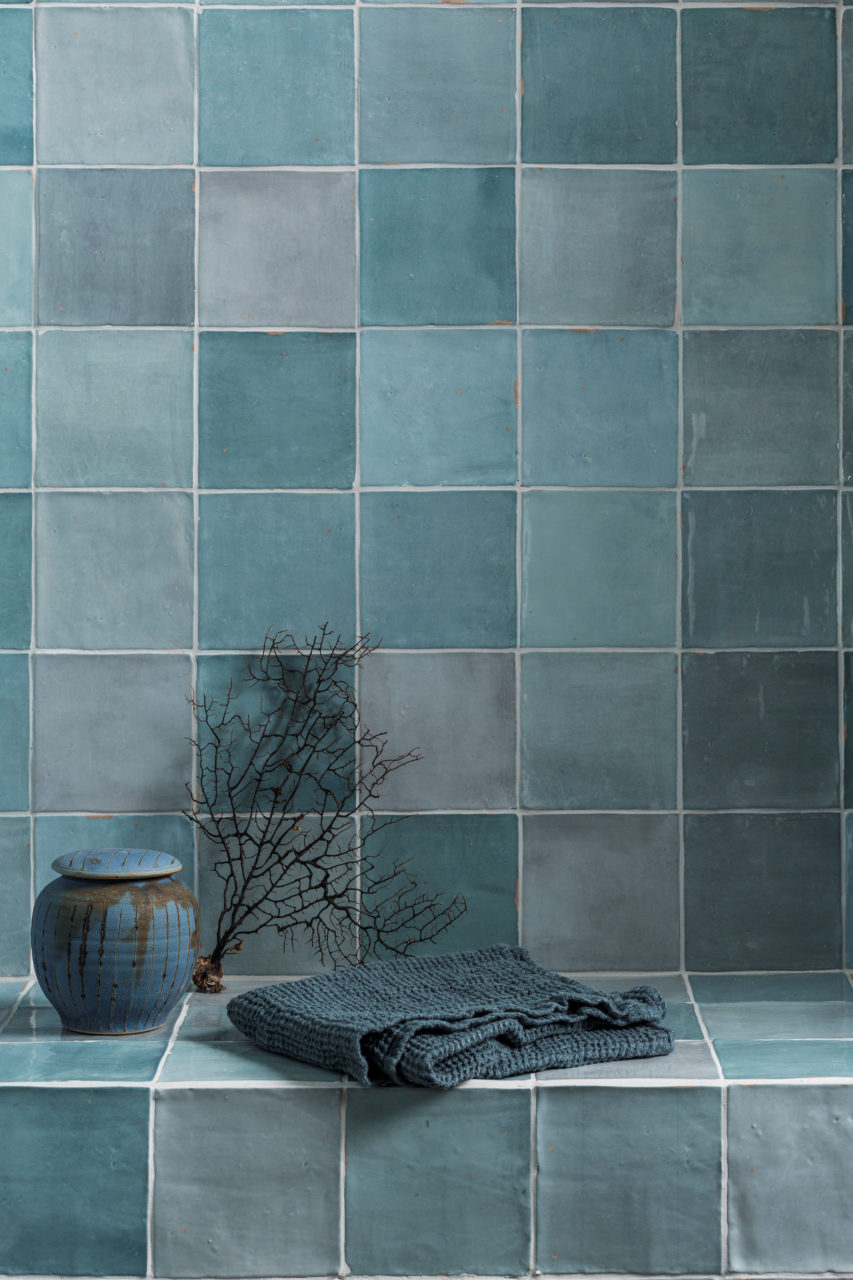 Zellige Nouveau Aqua Gloss Tiles | Mandarin Stone
