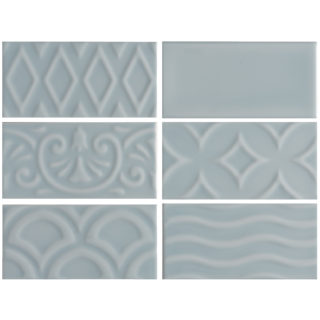 Alberta Blue Ceramic Tile Swatch