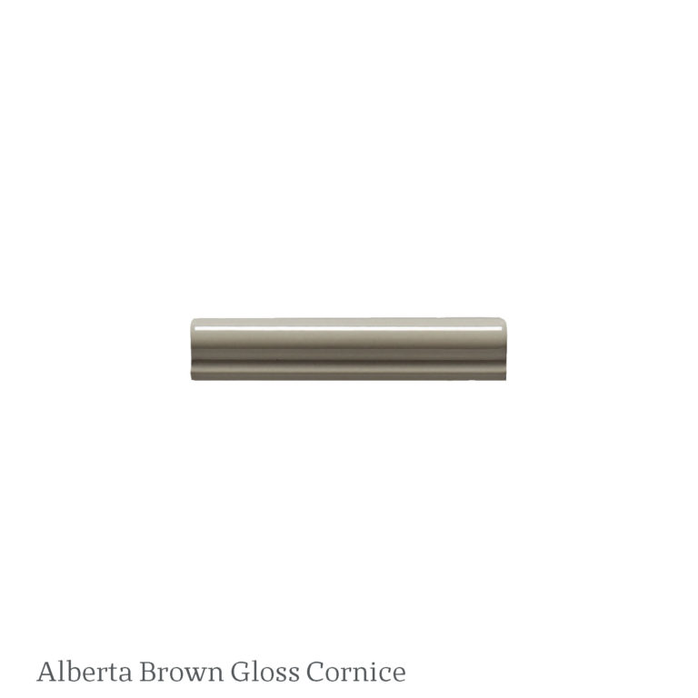 Alberta Brown Gloss Cornice Ceramic Tile