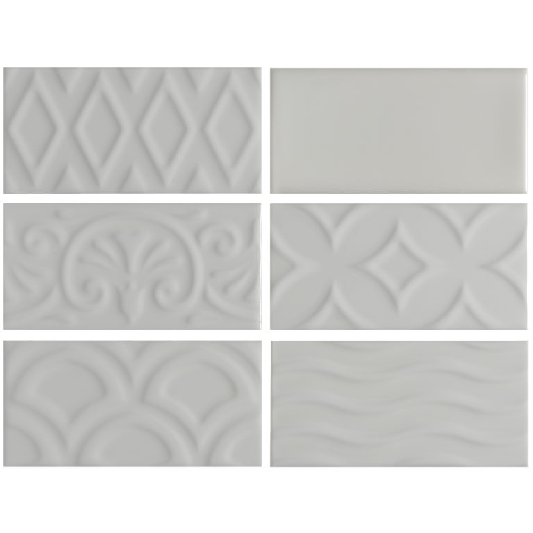 Alberta White Ceramic Tile Swatch