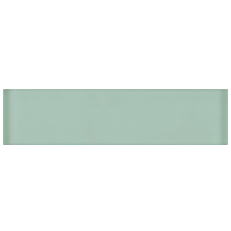 Glacier Green Glass Tile 240x60x8mm -Swatch