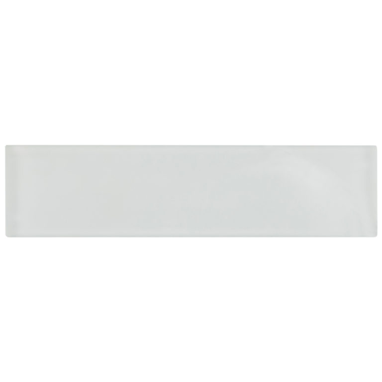 Glacier White Glass Tile 240x60x8mm -Swatch