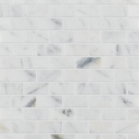 Calacatta Vein Polished Marble Mosaic