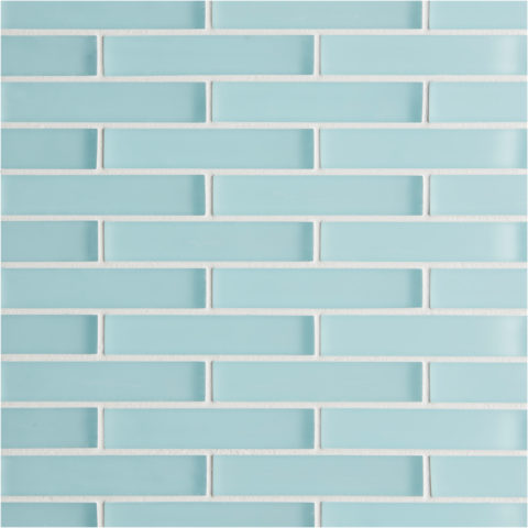 Glacier Blue Glass Brick Mosaic