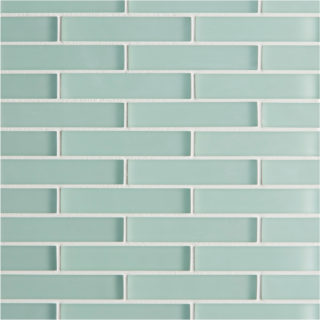 Glacier Green Glass Brick Mosaic Tile
