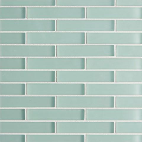 Glacier Green Glass Brick Mosaic