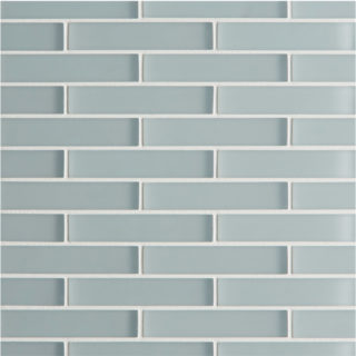 Glacier Grey Glass Brick Mosaic Tile
