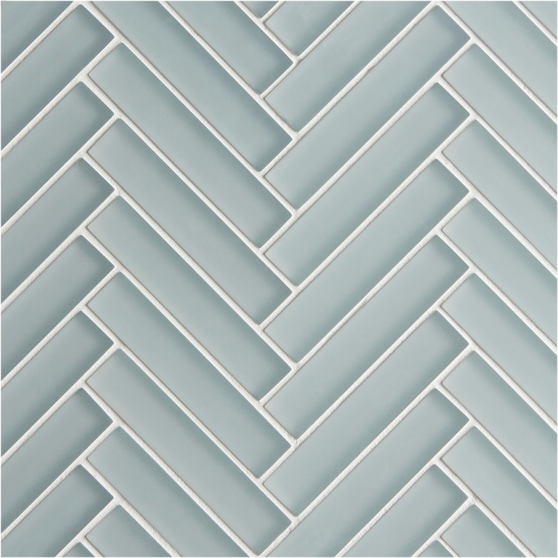 Glacier Grey Gl Herringbone Mosaic