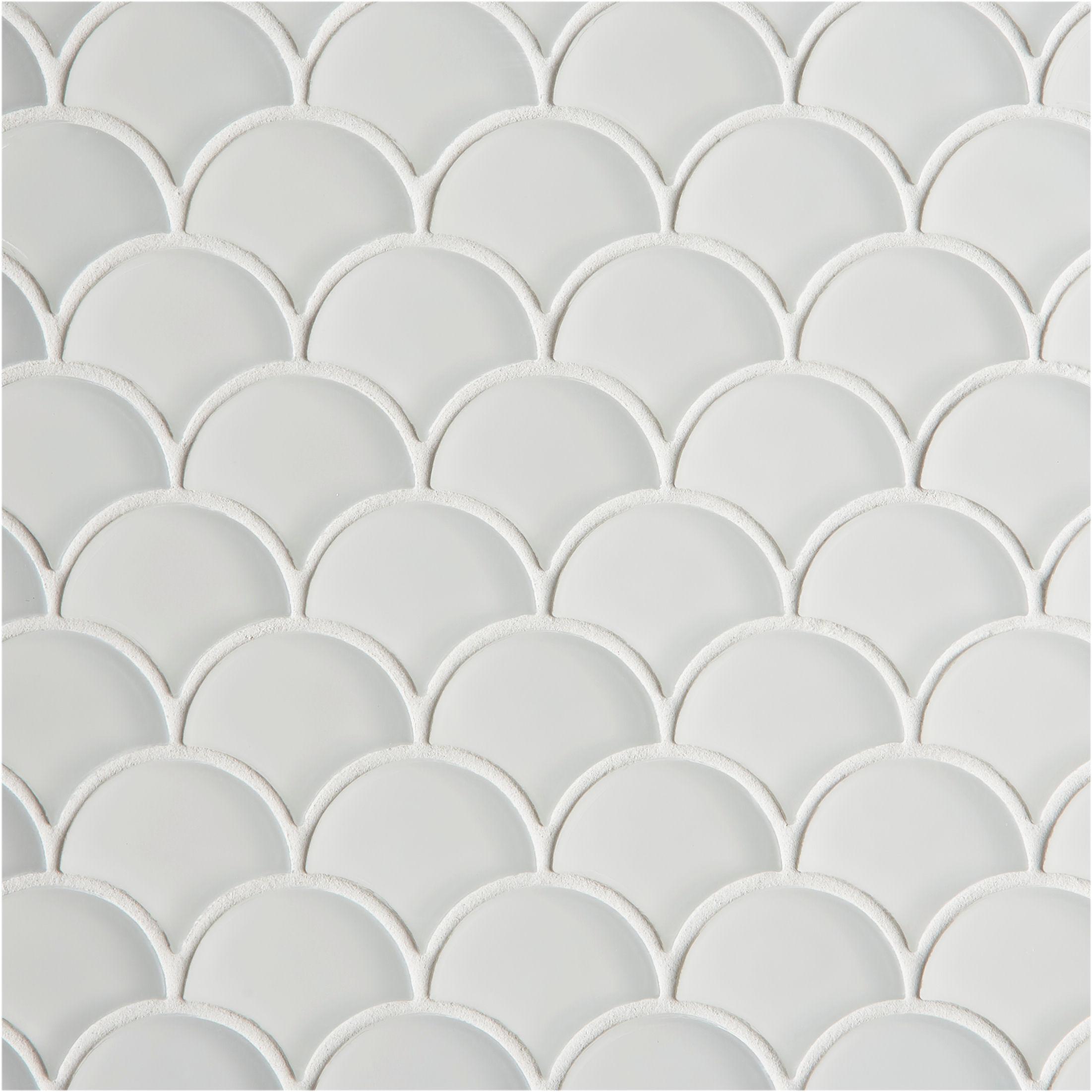 Glacier White Gl Scallop Mosaic