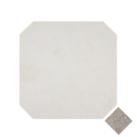White Emperador Honed Marble Octagon