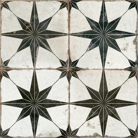 Motif Black Star Ceramic