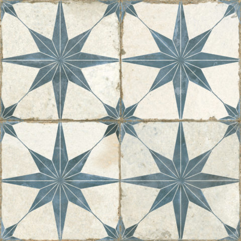 Motif Blue Star Ceramic