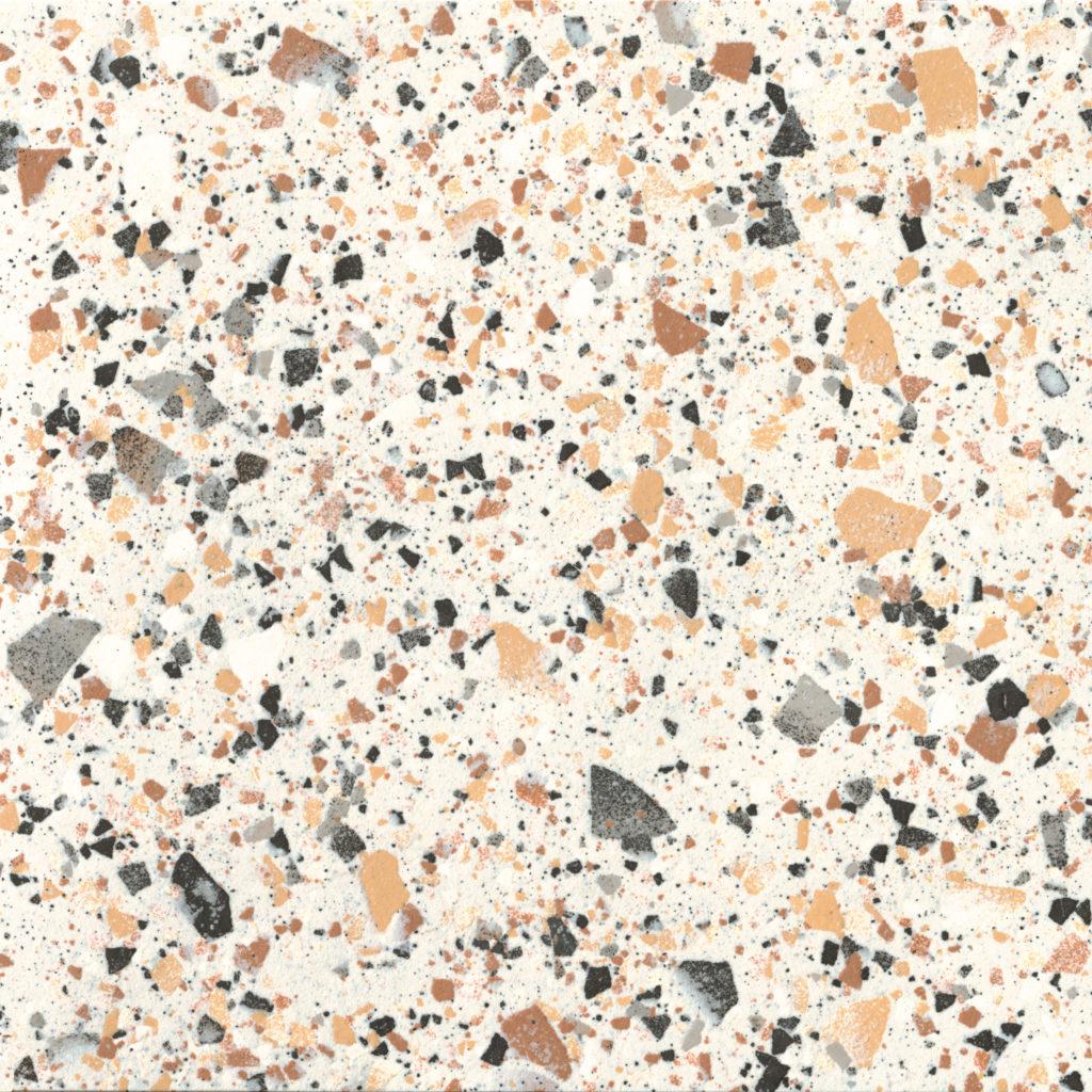 Terrazzo Nouveau Ivory Matt Porcelain Tile Mandarin Stone