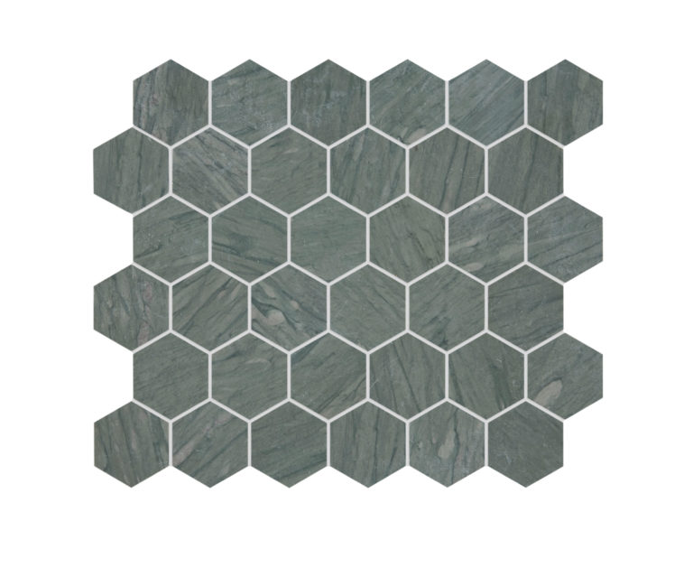 Verdi Capri Honed Hexagon Marble Tile Mosaic