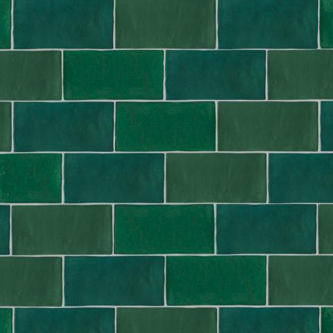 Zellige Nouveau Metro Emerald Gloss Ceramic