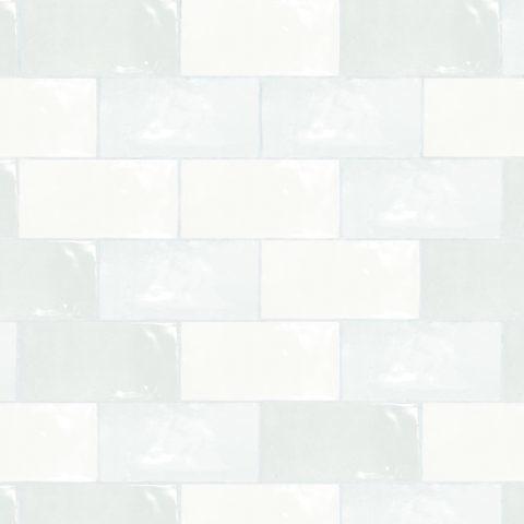 Zellige Nouveau Metro White Gloss Ceramic