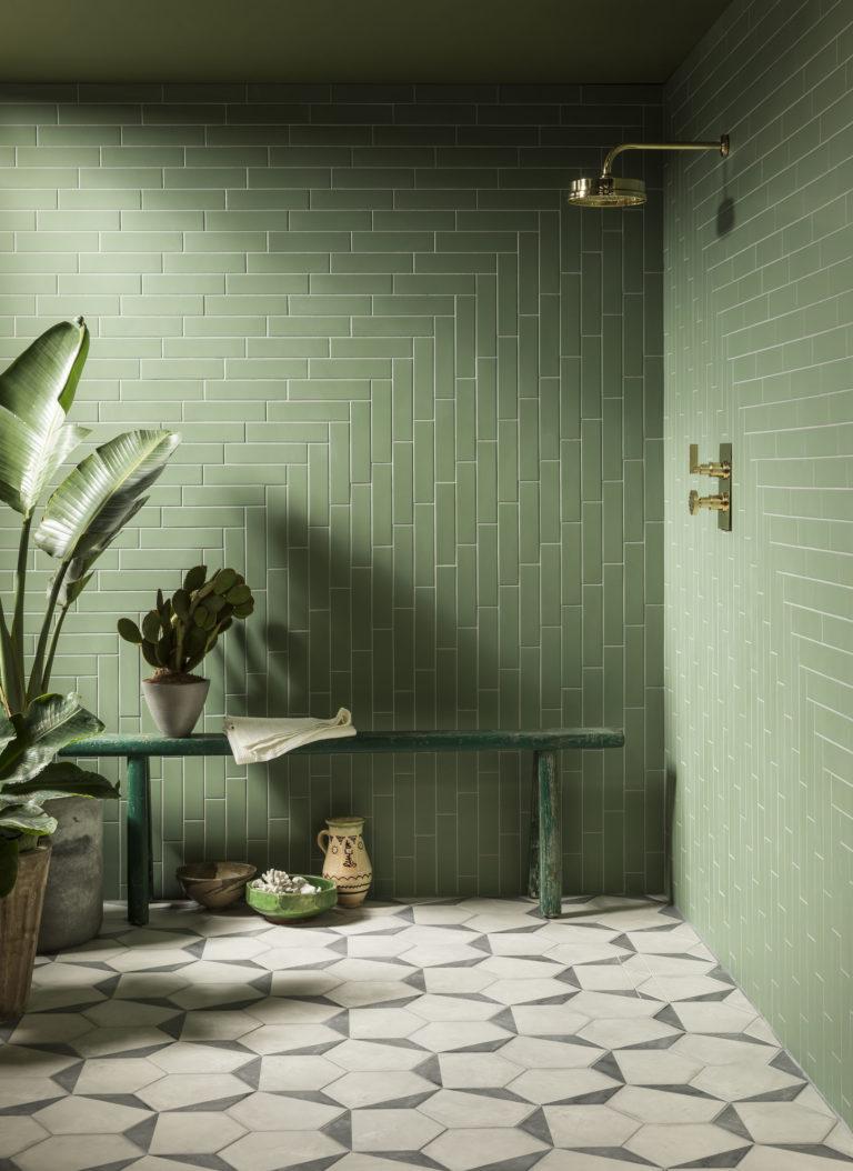 Oska Jungle Green Matt Porcelain Tile