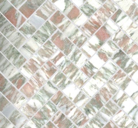 Valentina Honed Marble Herringbone Mosaic