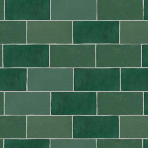 Zellige Nouveau Metro Emerald Matt Ceramic